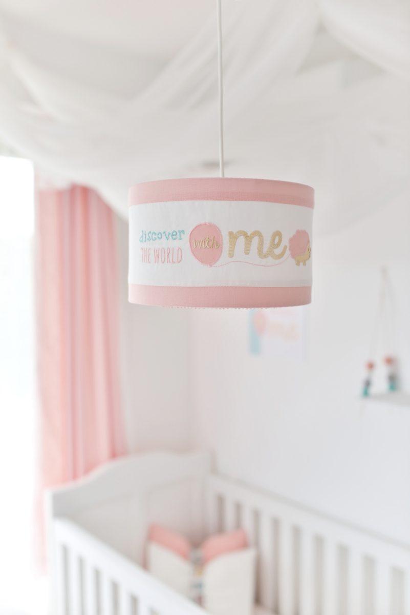 feliratos lámpabúra, Flower Lover, babaszoba lámpa