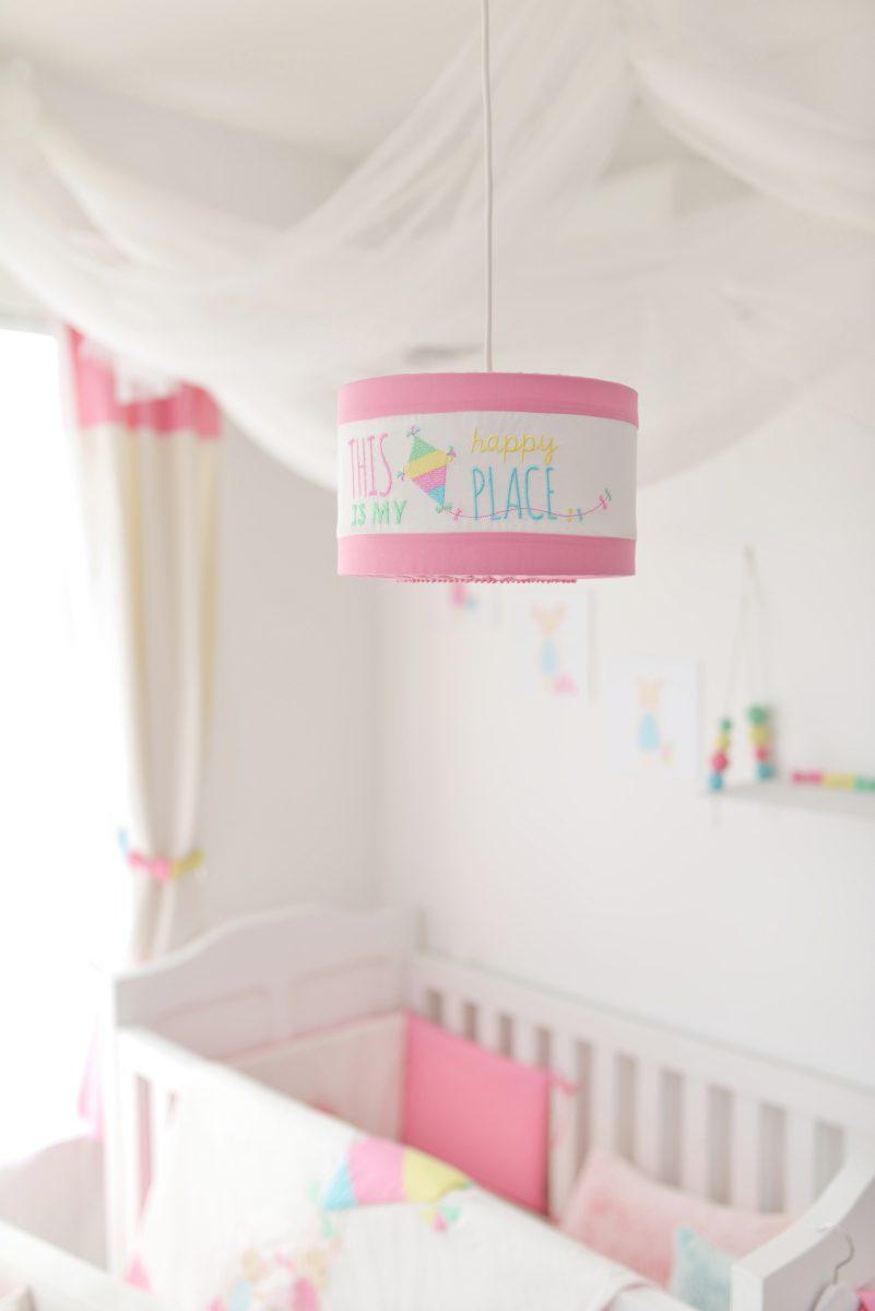 feliratos lámpabúra, Pink Prank, gyerekszoba lámpa