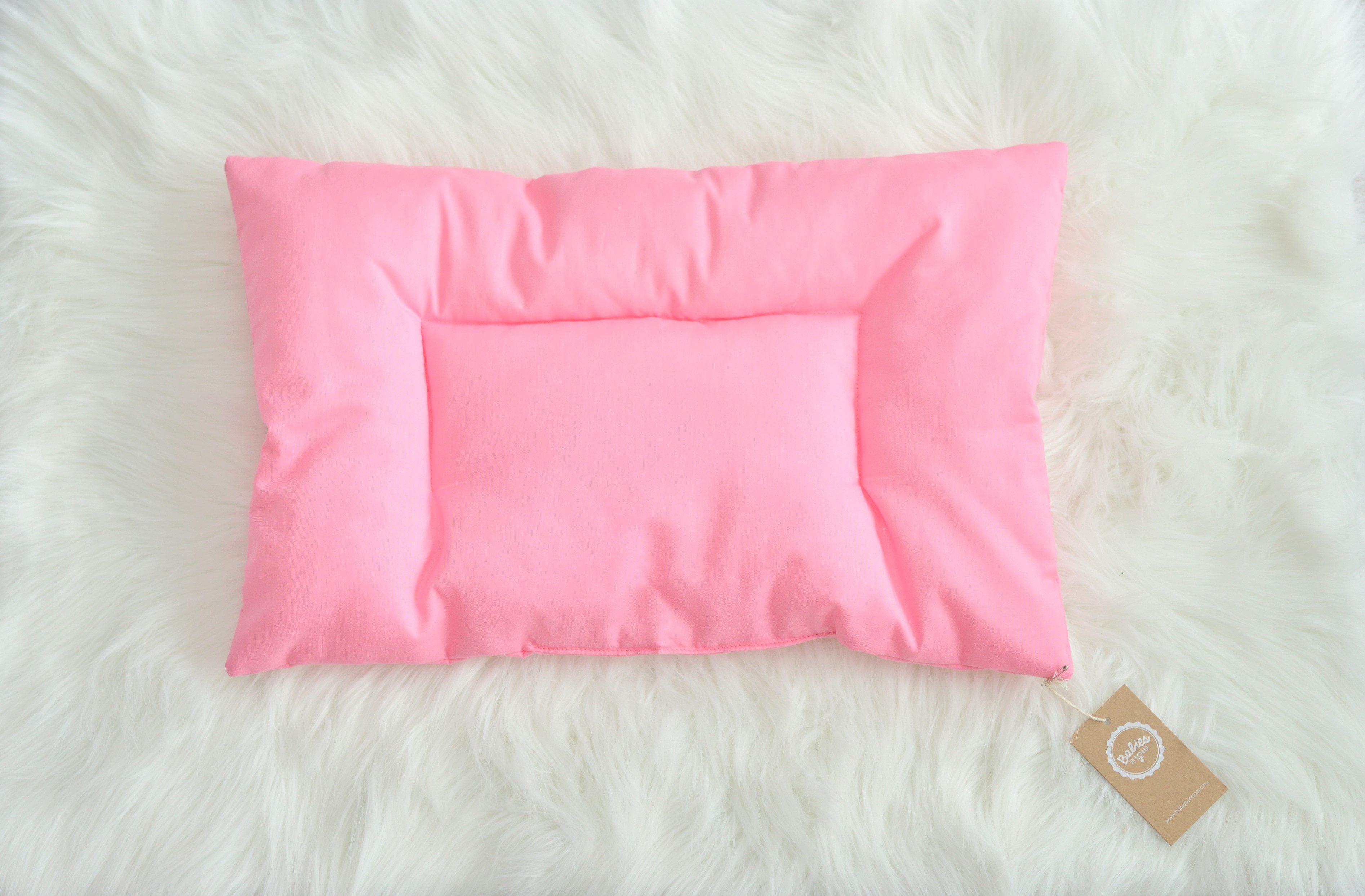 pasztell pink baba- és gyerekpárna, Pink Prank, tiszta pamut