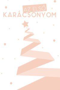 karácsonyi kártya lányos